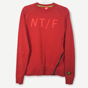 Nike NT/F Crewneck Orange Pullover Sweatshirt M